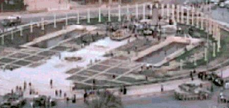 Saddam statue hoax, fake, phony, marines, US army, Iraq