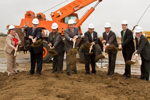 Monday's casino ground breaking ceremony